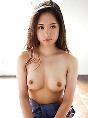 Kana Yume loves touching her breasts with sweet pleasure